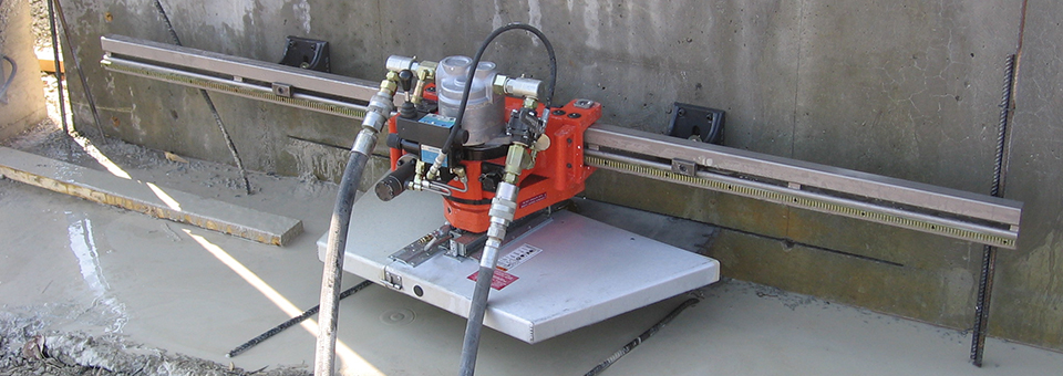 Wall Mounted Track Saw : Wall sawing service taylor s concrete cutting
